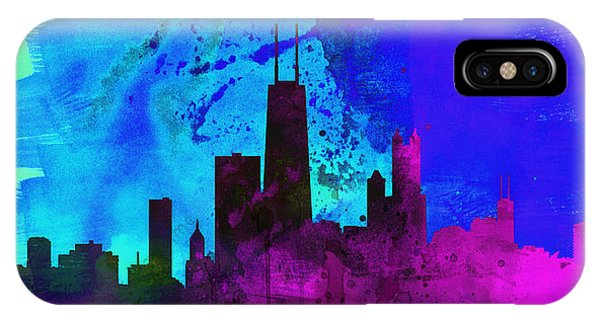 Chicago Skyline iPhone Case - Chicago City Skyline by Naxart Studio