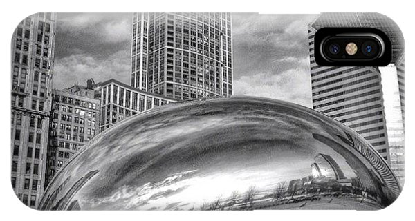 Architecture iPhone Case - Chicago Bean Cloud Gate Hdr Picture by Paul Velgos