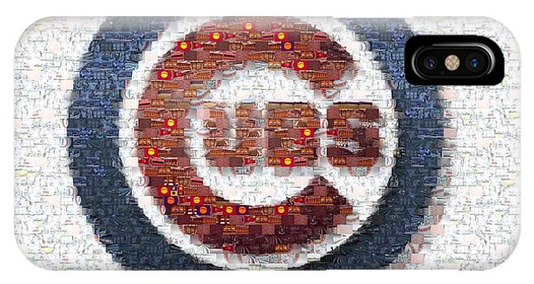 Chicago iPhone Case - Chicago Cubs Mosaic by David Bearden