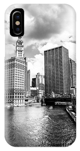 Chicago Downtown At Michigan Avenue Bridge Picture IPhone Case
