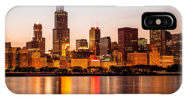 Skyline iPhone Case - Chicago Downtown City Lakefront With Willis-sears Tower by Paul Velgos