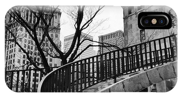 City iPhone Case - Chicago Staircase Black And White Picture by Paul Velgos