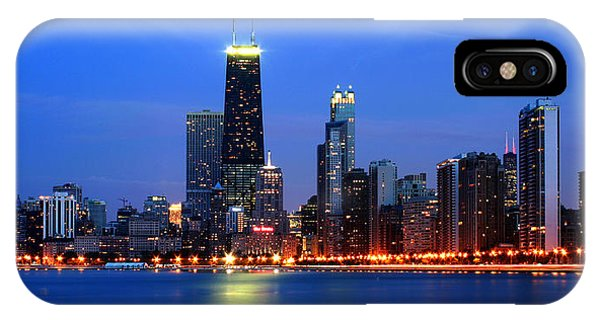 Chicago Dusk Skyline Hancock IPhone Case