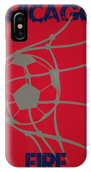 Fire Ball iPhone Case - Chicago Fire Goal by Joe Hamilton