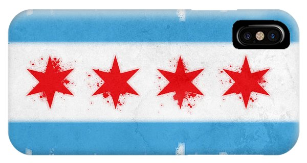 Chicago Skyline iPhone Case - Chicago Flag by Mike Maher