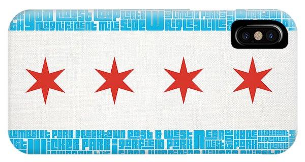 Chicago Flag Neighborhoods IPhone Case