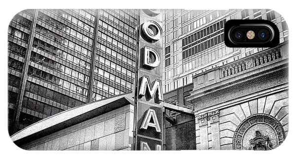 Architecture iPhone Case - Chicago Goodman Theatre Sign Photo by Paul Velgos