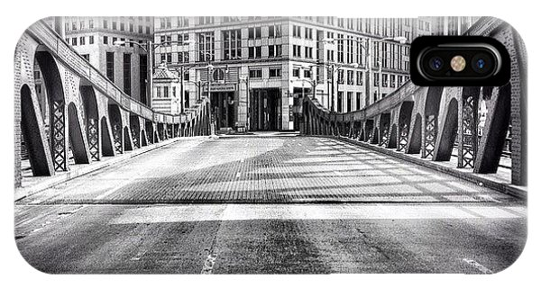 Architecture iPhone Case - #chicago #hdr #bridge #blackandwhite by Paul Velgos