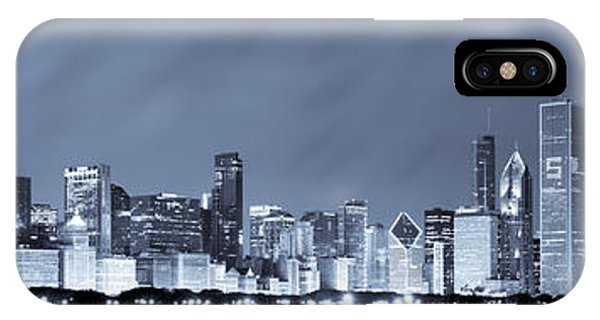 Chicago iPhone Case - Chicago In Blue by Sebastian Musial