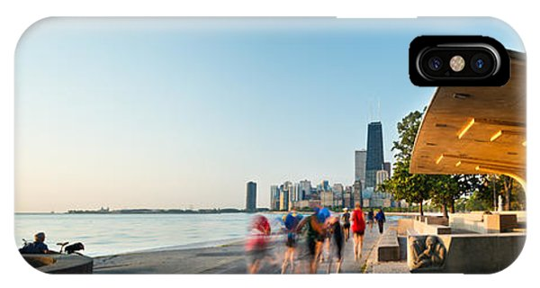 John Hancock Center iPhone Case - Chicago Lakefront Panorama by Steve Gadomski