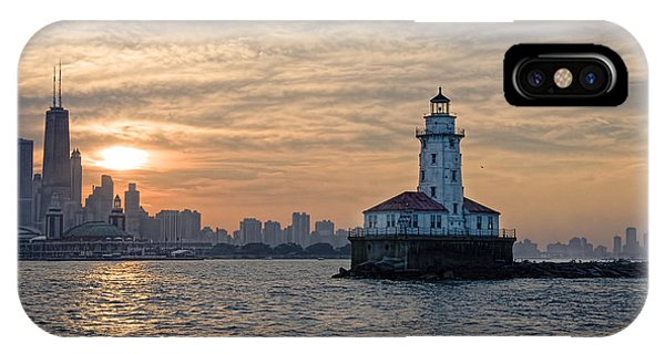 Chicago Lighthouse And Skyline IPhone Case