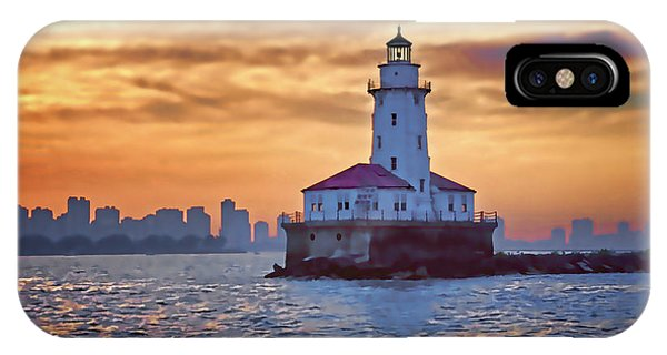 Chicago Lighthouse Impression IPhone Case