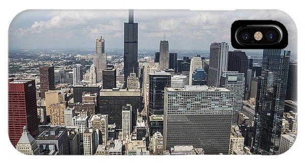 Chicago Skyline Art iPhone Case - Chicago Loop Aerial by Adam Romanowicz