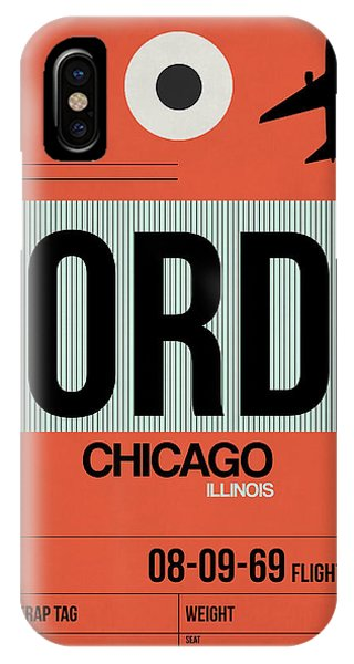 University Of Illinois iPhone Case - Chicago Luggage Poster 2 by Naxart Studio