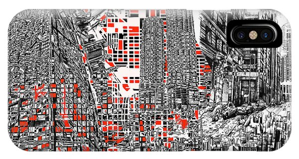 Chicago Art iPhone Case - Chicago Map Abstract by Bekim M