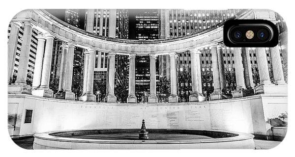 Chicago Millennium Monument Black And White Picture IPhone Case