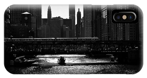 Chicago Morning Commute - Monochrome IPhone Case