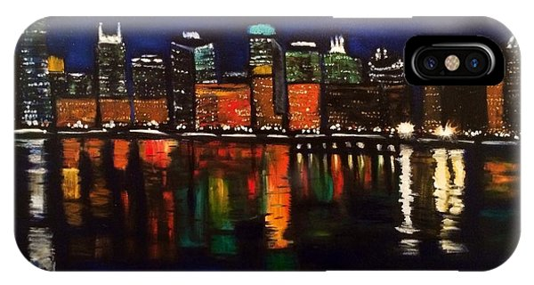 Chicago Night Skyline IPhone Case