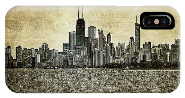 Chicago On Canvas IPhone Case