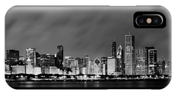 Chicago Panorama At Night IPhone Case
