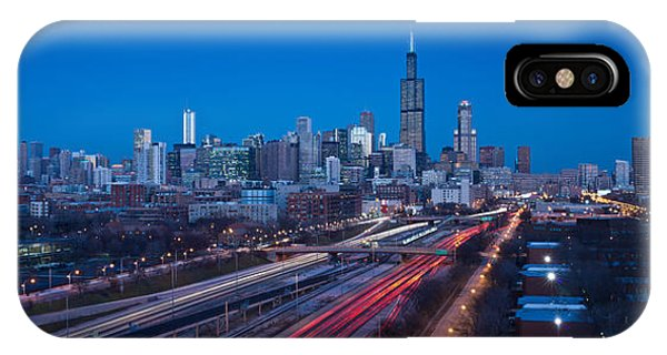 John Hancock Center iPhone Case - Chicago Panorama by Steve Gadomski
