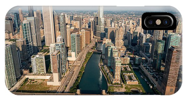 Chicago River iPhone Case - Chicago River Aloft by Steve Gadomski