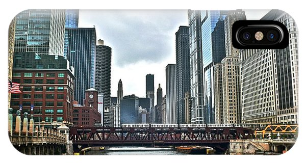 Chicago River And City IPhone Case