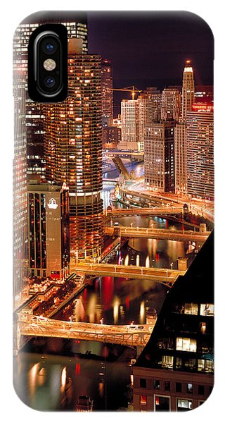 Chicago River iPhone Case - Chicago River At Night by Thomas Firak