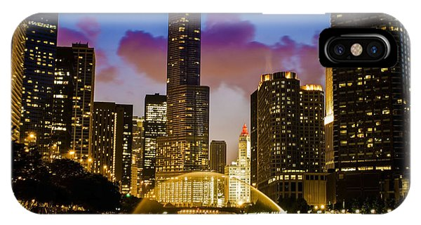 Chicago River Dusk Scene IPhone Case