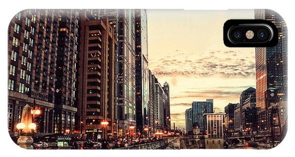 Chicago River November Hdr IPhone Case