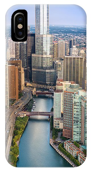Chicago River iPhone Case - Chicago River Sunrise by Steve Gadomski