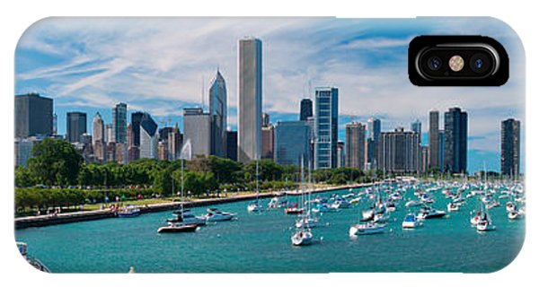 Chicago iPhone Case - Chicago Skyline Daytime Panoramic by Adam Romanowicz