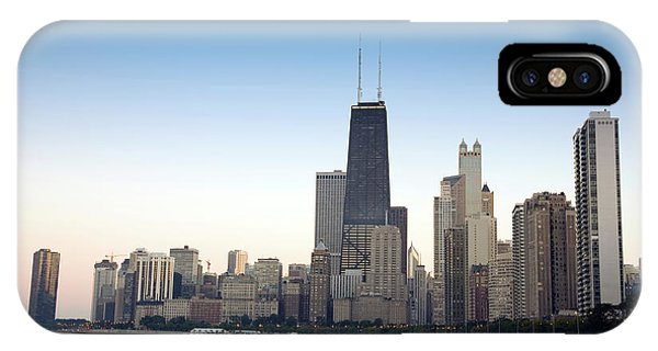Chicago Skyline And Lake IPhone Case
