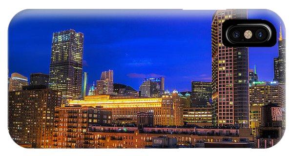 Chicago Skyline At Dusk - Blue Hour Willis Tower Phone Case by Michael  Bennett