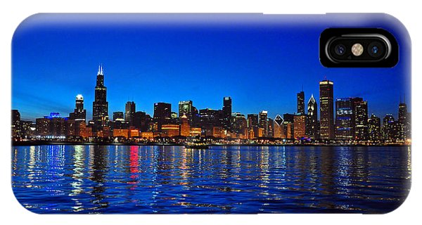 Chicago Skyline At Dusk IPhone Case