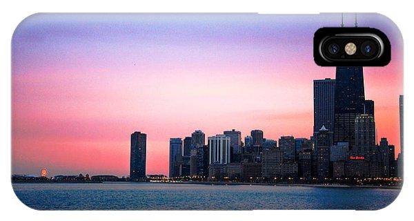 Chicago Skyline At Lake Michigan IPhone Case
