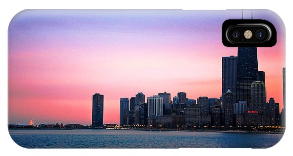 Chicago Skyline At Lake Michigan IPhone Case