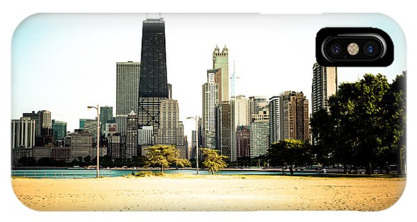 Skyline iPhone Case - Chicago Skyline At North Avenue Beach Photo by Paul Velgos