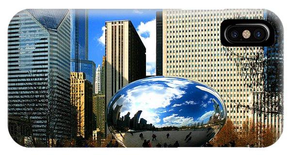 Chicago Skyline Bean IPhone Case