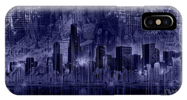 John Hancock Center iPhone Case - Chicago Skyline Blueprint by Bekim M