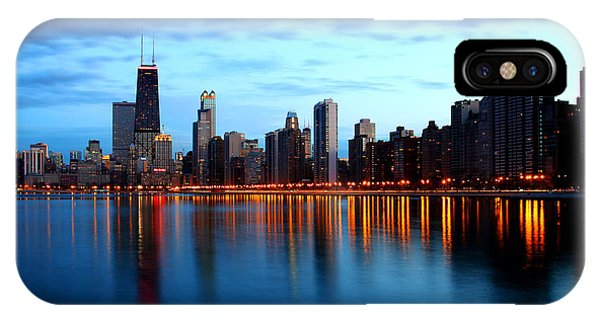 Chicago Skyline Dusk IPhone Case