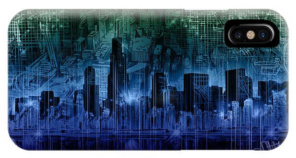 John Hancock Center iPhone Case - Chicago Skyline Gradient Version by Bekim M
