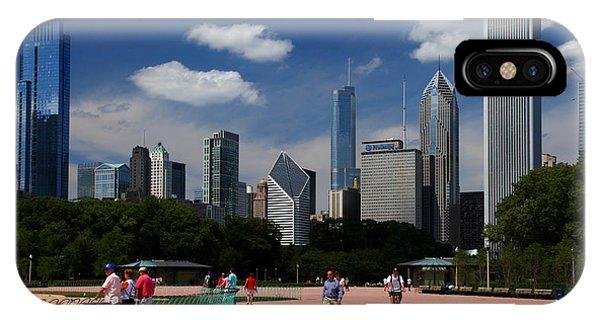 Chicago Skyline Grant Park IPhone Case