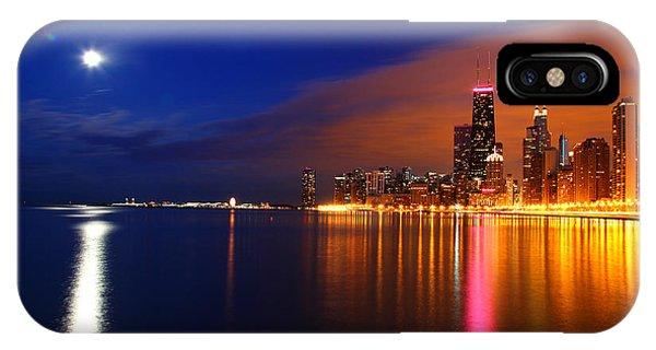 Chicago Skyline Moonlight IPhone Case
