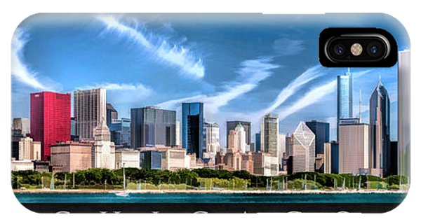 Chicago Skyline Panorama Poster IPhone Case