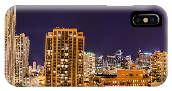 Chicago Skyline Photography October 2014 Phone Case by Michael  Bennett