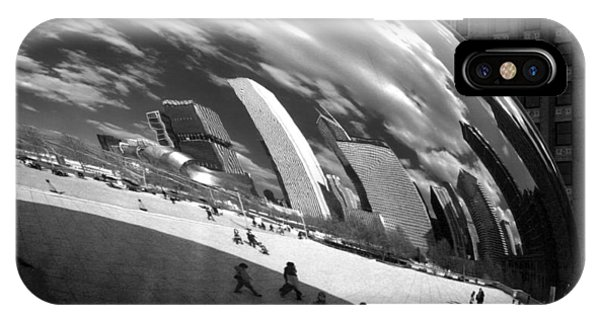 Chicago Skyline Reflected Bean IPhone Case
