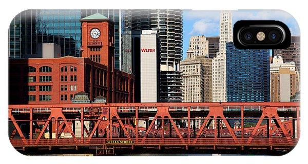 Chicago Skyline River Bridge IPhone Case
