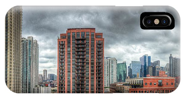 Chicago Skyline - Sears Tower 6 Shot Panorama Phone Case by Michael  Bennett