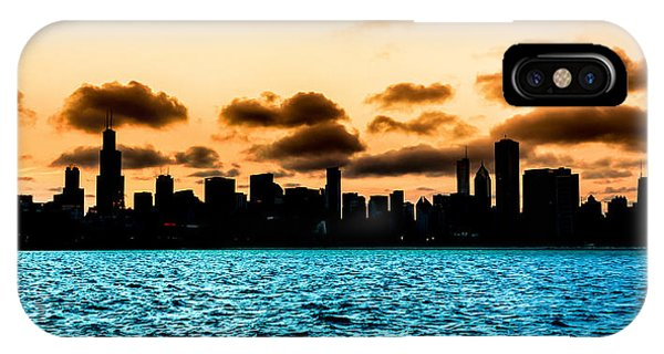 Chicago Skyline Silhouette IPhone Case